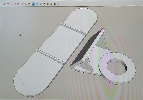 A New plastic part design ready to be prototyped using 3d printing