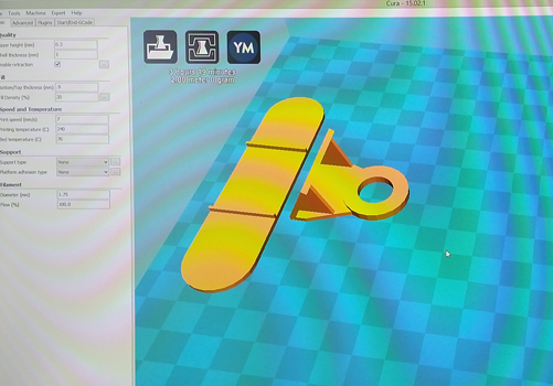 Prototype Plastic Moulding loaded into 3D printing software
